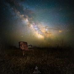 """Redneck Planetarium"" (HomeGroenPhotography) Tags: milkywaystars astronomy astophotography stars chair country jupiter mars aarongroen wwwaaronjgroencom homegroenphotography field astrophoto"