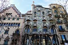 Barcelona - Casa Batlló de Gaudí. (EduOrtÍn.) Tags: casabatlló casa batlló barcelona modernismo catalán cataluña edificio gaudí