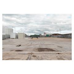 Suffling Road (John Pettigrew) Tags: lines tamron d750 nikon industrial beige empty mundane documentary imanoot angles deserted topographics ordinary yellow johnpettigrew banal