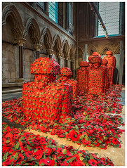 We will remember them (Ian Emerson (Thanks for all the comments and faves) Tags: remembranceday forthefallen worldwar armedforces soldiers poppies beverleyminster sculpture artwork warveterans