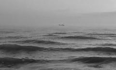 Iph8102 (gzammarchi) Tags: italia paesaggio natura mare ravenna lidoadriano alba barca bn
