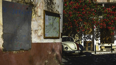 2565TS Herbie Hides Again (foxxyg2) Tags: herbie beetle vw topaz topazstudio topazsoftware dxo niksoftware dfine2 urban car buildings nazos cyclades greece greekislands islandhopping islandlife halki