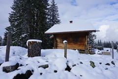 DSC05158 (Bergwandern Alpen) Tags: alpen alps bergwandern hiking sellamatt toggenburg obertoggenburg alphütte berghütte mountainhut schnee neuschnee snow