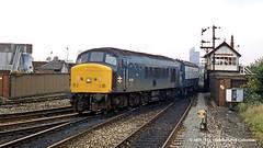 22/07/1987 - Miles Platting, Manchester. (53A Models) Tags: britishrail sulzer type4 peak class45 45108 diesel passenger milesplatting manchester train railway locomotive railroad