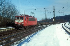 155 077  Schlierbach  18.02.99 (w. + h. brutzer) Tags: schlierbach eisenbahn eisenbahnen train trains deutschland germany railway elok eloks lokomotive locomotive zug db dr 155 250 webru analog nikon