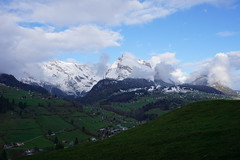 DSC05271 (Bergwandern Alpen) Tags: alpen alps bergwandern hiking toggenburg obertoggenburg alpstein säntis neuschnee wintereinbruch wildhaus berglandschaft mountainlandscape snow wolken wolkenspiel clouds
