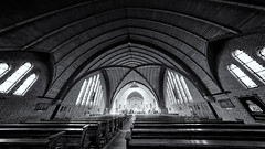 Today's Location For A Bad Light Photoshoot (Alfred Grupstra) Tags: blackandwhite architecture church indoors arch old history builtstructure europe nopeople famousplace insideof cathedral architectureandbuildings religion travel