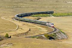 2ZAGAL-003 + 2ZAGAL-007, Bayan - Khairkhan (Mongolia) (Martin Válek) Tags: rail railway railroad train locomotive zug eisenbahn vlak železnice mongolsko mongolei transmongolianrailway ulaanbaatarrailway 2zagal