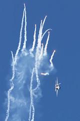 Hornet Popping Flares. (spencer_wilmot) Tags: aviation fighter flares fa18hornet jet plane avgeek airplane smoke airshow