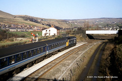 29/11/1989 - Diggle, Saddleworth, Greater Manchester. (53A Models) Tags: britishrail brush type4 class47 47597 diesel passenger diggle saddleworth greatermanchester train railway locomotive railroad
