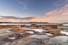 Sunrise Seascape and Rock Platform (Merrillie) Tags: daybreak sunrise sky nature dawn terrigal morning sea rocky newsouthwales thehaven rocks earlymorning nsw landscape terrigalhaven ocean centralcoast waterscape clouds coastal australia outdoors seascape waves coast water haven