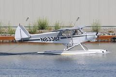 N83367 - 1976 build Piper PA-18-150 Super Cub, moving for departure at Lake Hood (egcc) Tags: 187609100 alaska anchorage lhd lakehood lakehoodseaplanebase lakespenard lightroom n83367 pa18 pa18150 palh peterson piper supercub