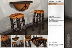 Sway's [Basketball] Wall Table & Bar Stool | SSS (Sway Dench / Sway's) Tags: sport sports sale vr sl baseball basketball bar chair ball
