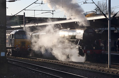 Crewe (goremirebob) Tags: morning wcrc flyingscotsman steamexcursion steam railways trains railwaytouringcompany crewe cheshire