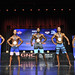 Mens Physique Masters 40+ 4th MacIsaac 2nd Cervantes 1st McKenzie 3rd Dzuima 5th Randall