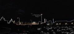 glowing edged skyline (conall..) Tags: kelvinbuilding hughdied rise belfastrise skyline westbelfast manipulated manipulatedimage photoshop elements 15 messing abstract weird glowing edges sliderssunday sad somber cars carpark rvh royal photoshopelements15 lateafternoon remembrance