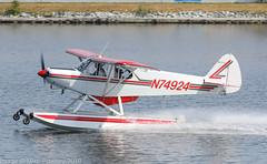 N74924 - 1975 build Piper PA-18-150 Super Cub, on the West channel at Lake Hood (egcc) Tags: 187509098 alaska anchorage fishback lhd lakehood lakehoodseaplanebase lakespenard lightroom n74924 pa18 pa18150 palh piper supercub