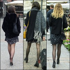 Light skirts (Legs in the city) Tags: girls woman sexy stockings girl beauty hair back high women pumps boots tights skirt class thighs heels elegant miniskirt ankles classy elegance sexyness femininity egs