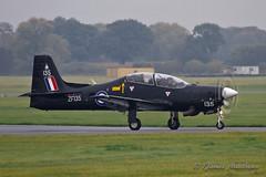 RAF Shorts Tucano T1 ZF135 (James P Matthews) Tags: plane aircraft trainer propeller turboprop raf royalairforce zf135 shortstucano tucanot1 yorkshire lintononouse