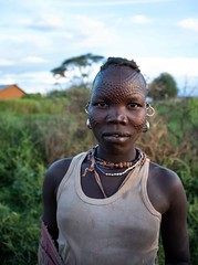 Karamojong Tribe (Rod Waddington) Tags: africa african afrique afrika uganda ugandan eastern karamojong karamoja tribe traditional tribal culture cultural woman portrait village beads scarification face female outdoor