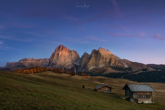 Wait till the Clouds Roll in (SharonWellings) Tags: alpedisiusi italy dolomites mountain mountains sunset visa light travel