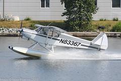 N83367 - 1976 build Piper PA-18-150 Super Cub, departing from West at Lake Hood (egcc) Tags: 187609100 alaska anchorage lhd lakehood lakehoodseaplanebase lakespenard lightroom n83367 pa18 pa18150 palh peterson piper supercub