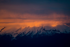 Sunset, Calbuco Volcano (José Rambaud) Tags: calbuco sunset atardecer light sunlight volcano volcan puertonatales chile andes andesrange nubes clouds cloudscape cloudy cloud cloudsstormssunsetssunrises winter