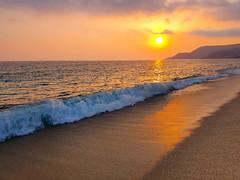 Summer memories (Milos Golubovic) Tags: summer turkey alanya antalya sea sunset waves sand empty reflection foam samsung s10 phone