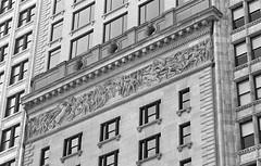 Rome (Alex Luyckx) Tags: chicago illinois downtown urban city loop details architecture cta buildings fall vacation trip minolta minoltamaxxum9 maxxum9 slr 135 35mm minoltamaxxumafmacro100mm128 macodirect rollei rolleirpx400 rpx400 asa320 photographersformulary pyrocathd 11100 nikoncoolscanved adobephotoshopcc bw blackwhite film filmphotography believeinfilm filmisalive filmisnotdead