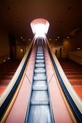Maybe You Weren't on My Side All Along (Thomas Hawk) Tags: america california franklloydwright marin marinciviccenter marincounty sanrafael usa unitedstates unitedstatesofamerica architecture escalator fav10 fav25 fav50