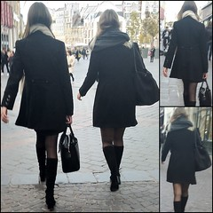 double (Legs in the city) Tags: egs ankles thighs skirt heels boots high miniskirt stockings tights back beauty femininity girls girl woman women hair pumps class classy elegance elegant sexy sexyness