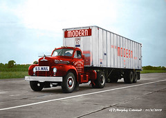 Mack B Modern US Mail Colorized (gdmey) Tags: mack macktruck mackb colorized fallenflag trucking