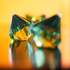eMIRRORalds (m_big_b) Tags: macro olympus penf plastic fake emeralds orange green complementary reflection macromondays