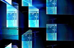 Window Blues (pjpink) Tags: window blue geometric angled rectangular abstract abstraction vmfa rva richmond virginia july 2019 summer pjpink 2catswithcameras hss