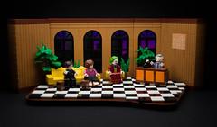 """Live! With Murray Franklin Studio"" (Joker) (Eddy Plu) Tags: lego joker joaquinphoenix robertdeniro arthurfleck toddphillips livewithmurrayfranklin moc gotham batman legography minifigures minifigure minifig custom studio film bricks legos toy toyphotography movie plants"