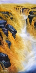 Hukou Waterfall Shanxi China, Art Painting / Oil Painting For Sale - Arteet™ (arteetgallery) Tags: arteet oil paintings canvas art artwork fine arts river yellow park waterfall national china beautiful nature landscape rock background cataract water stone fall scenery famous flowing stream cascade torrent mountain landscapes oriental lakes rivers black watercolor