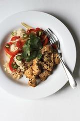lightening-fast tahini chicken (or pork) (awhiskandaspoon) Tags: chicken dinner food homemade savory ed everydaydorie cookthebookfridays