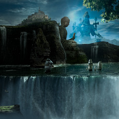 Temple of the Gods (Malcolm Hare Photography and Tuition) Tags: hss buddha temple god composite