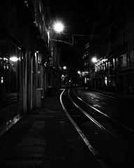 street of lisbon (jovani.) Tags: street car building night portugal lisbon black white outside