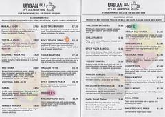 Menu (Oct 2019) from Urban Guj, Thornton Heath, London CR7 (Kake .) Tags: thorntonheath croydon london cr7