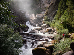Waterfall (ilTeO86) Tags: olympus mountain mountains montagna montagne cascate cascata waterfall waterfalls fiume river rivers fiumi ruscello jungle foresta