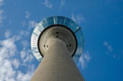 Blues Skies Over Düsseldorf (The_Kevster) Tags: nikond7000 nikon dslr sky blue clouds light shadows reflections high tower dusseldorf germany glass city landmark europe