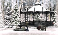 Quiet Sunday outside (VeraCruza) Tags: cosmopolitanevents killers yourdreams yoyovideoproduct simplyshelby winter gazebo foutain bench marinabay goose secondlife virtualworld