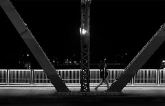 (cherco) Tags: takayama japan bridge woman lonely solitario silhouette solitary street composition canon ciudad v light alone architecture arquitectura monochrome mujer composicion city chica blackandwhite happyplanet asiafavorites