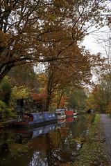 Autumn colors (EricMakPhotography) Tags: autumn color canal yorkshire boats reflection hebden bridge