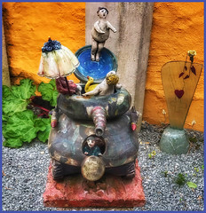 """""""Come on in!  The water's fine!"""" or """"Tanks for the advice."""" (Sherrianne100) Tags: hss whimsical creative giftshop artstudio pottery aalborg denmark"""