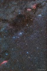 Milkyway in the Constellation Perseus (astrofan80) Tags: astronomie californianebel camelopardus deepsky doppelsternhaufen heartnebula ic1805 ic1848 mel20 milchstrase ngc1499 ngc869 ngc884 perseus soulnebula sternhaufen sternhimmel canon 1000da
