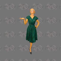 1960s Dark Green Paisley Wrap Front Dress By Meris London (Rickenbackerglory.) Tags: vintage 1960s darkgreen paisley wrapfront dress merislondon siegel mannequin