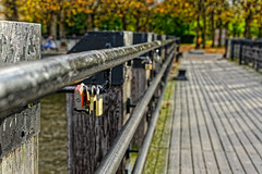 Locks (Croydon Clicker) Tags: padlock symbol jetty pier boardwalk railings southbank london nikon nikkor autumn fall