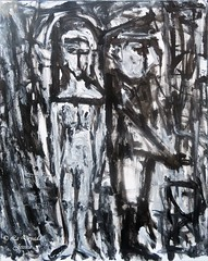 Dark romance (LaDryadaJessica) Tags: ladryadajessica artdryadique dryadicart art artmoderne modernart peinture painting canvas acrylique acrylics noir black dark romance noiretblanc blackandwhite